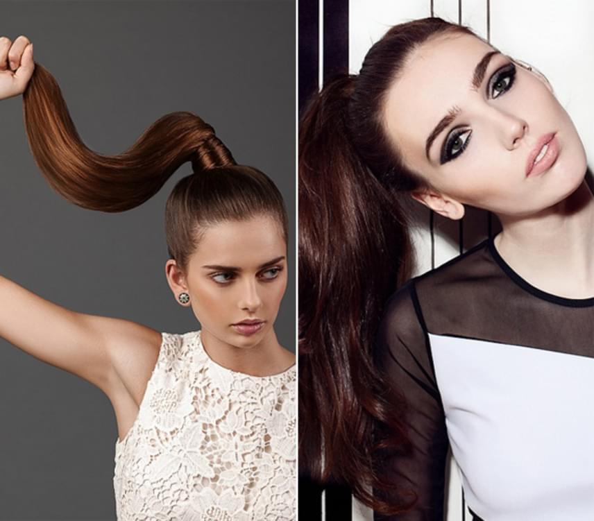 A legegyszerűbb megoldás, ha felfogod a hajad lófarokba. Így nem látszik majd az elválasztásnál az ilyenkor leginkább zsírosodó rész. Ez a frizura nőies és szexi, ráadásul erőt sugároz, és még anéhány napos hajból is tökéletesen mutat.