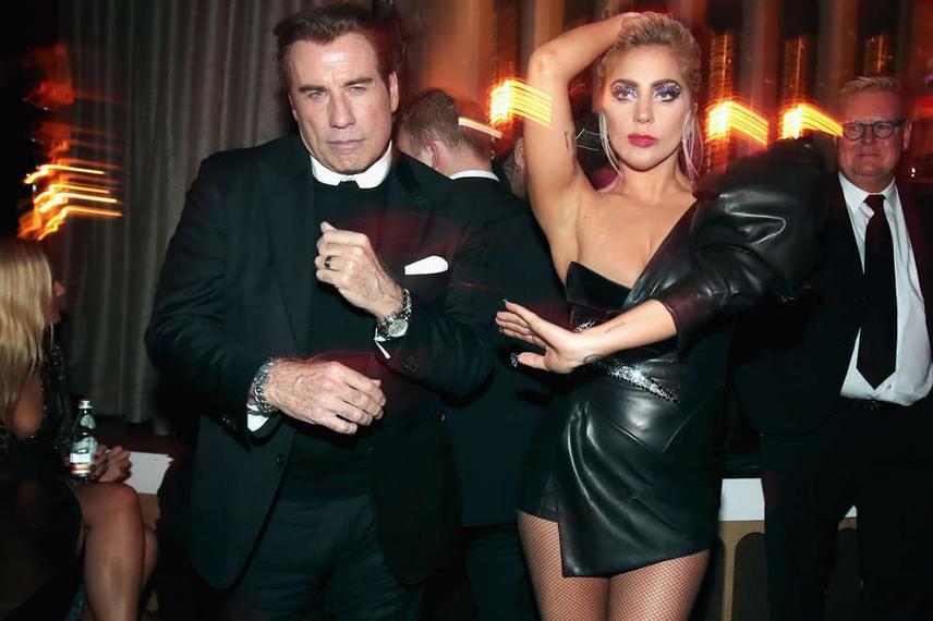 Lady Gaga és John Travolta voltak az afterparti parkettjének legnagyobb ördögei - végigtáncolták együtt az egész éjszakát.