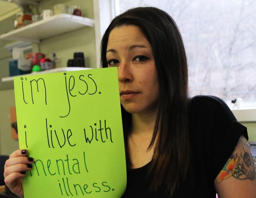 """""""Jess vagyok. Mentális betegséggel küzdök."""" További képeket itt, a projekt honlapján találsz."""
