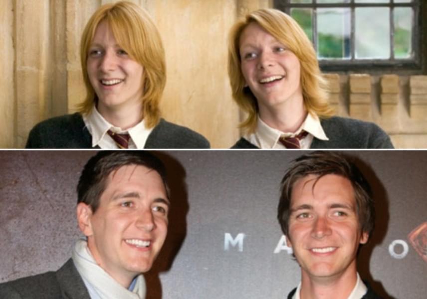 A Weasley ikrek is egészen másként festenek vörös loboncuk nélkül. A Fredet és George-ot alakító testvérpárnak, James és Oliver Phelpsnek is jót tettek az évek.