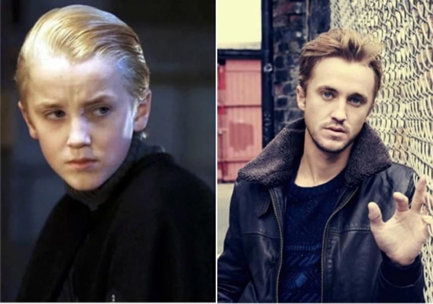 Tom Felton alakította Harry nemezisét, Draco Malfoyt. A hisztis, szőke kisfiúból mára igazán jóképű pasi lett, akit újabban a Flash - A villám című sorozatban láthatnak a rajongók.