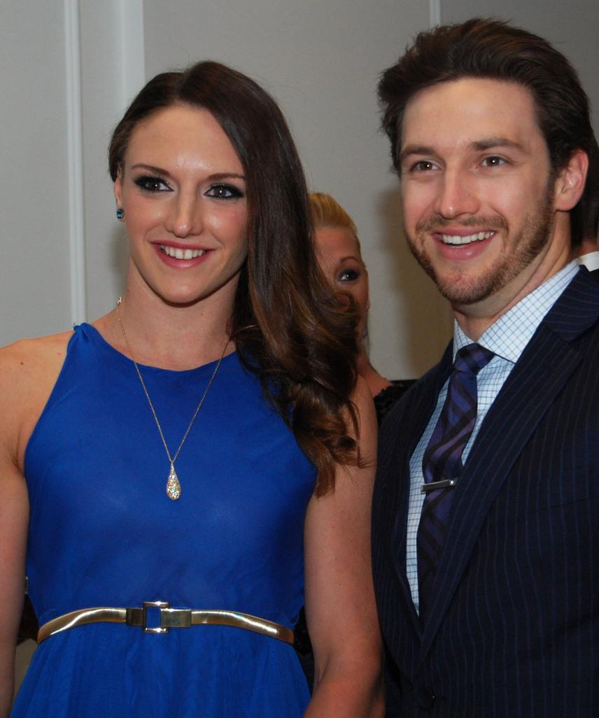Hosszú Katinka nyerte az év sportolói díját a 2015-ös Story-gálán, ahova férjével, Shane Tusuppal érkezett.