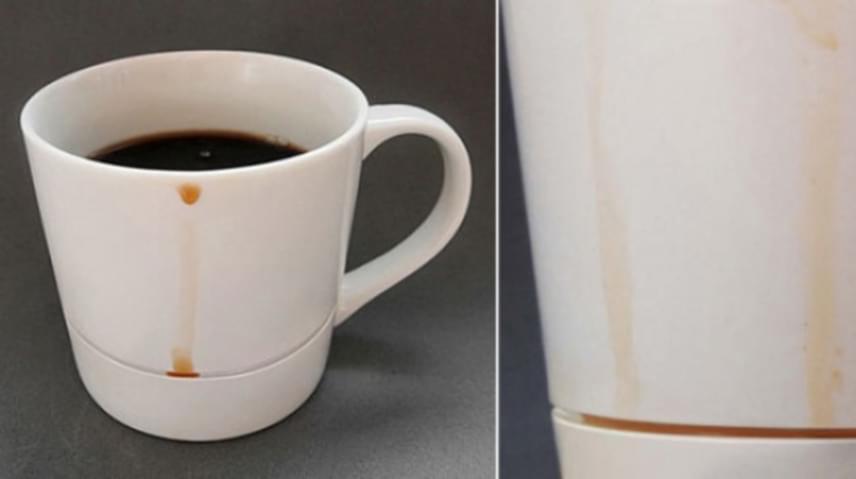 A kávézók számára mindennapos probléma, amikor kedvenc italuk cseppjei észrevétlenül lefolynak a csésze oldalán, csúnya foltot hagyva az asztalon. A cseppfogóval ellátott csészével viszont ez soha többé nem fordulhat elő.