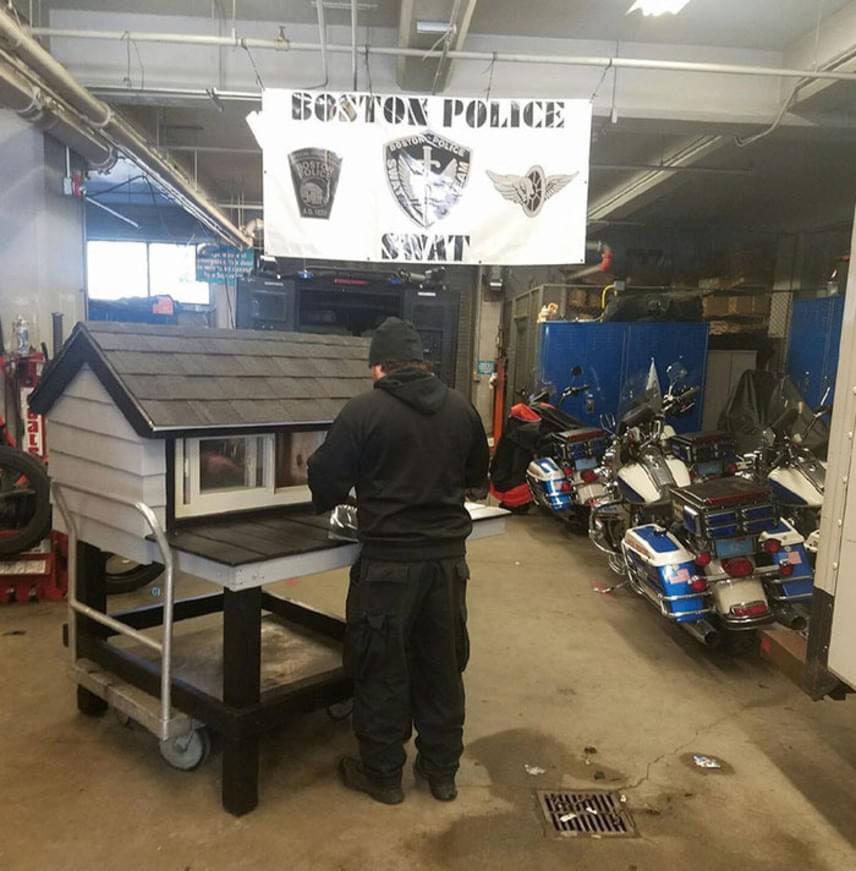 Jamie Pietroski nyugdíjas rendőr nemegyszer hajnalig dolgozott, hogy minél hamarabb elkészíthesse ezt a kényelmes cicaházat.