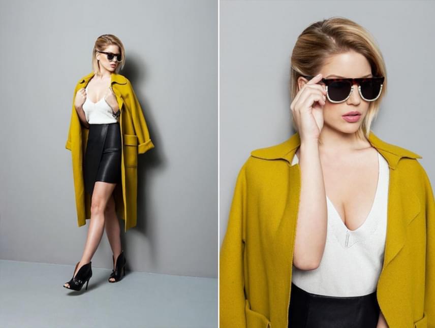 Szabó Zsófi mint glamour modell. Kétségkívül dögösen néz ki, és menő a szerelése is, amiben Debreczeni Zita lefotózta.
