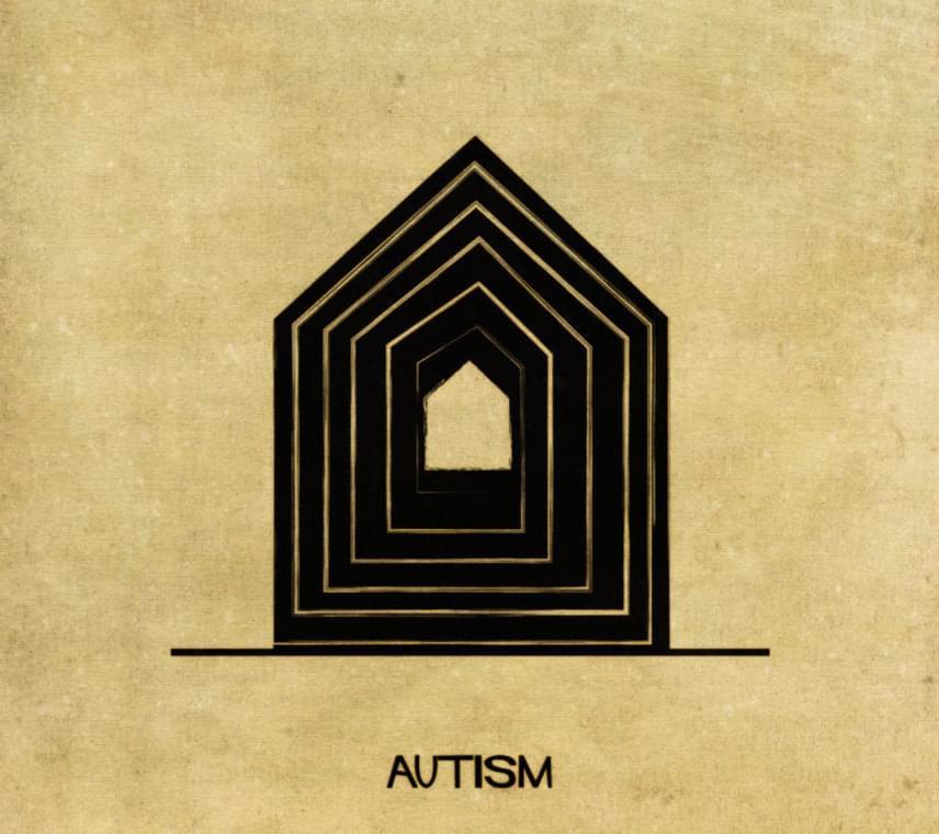 Így gondolta ház formába az autizmust, a kommunikációs- és kognitív fejlődési zavart a művész.