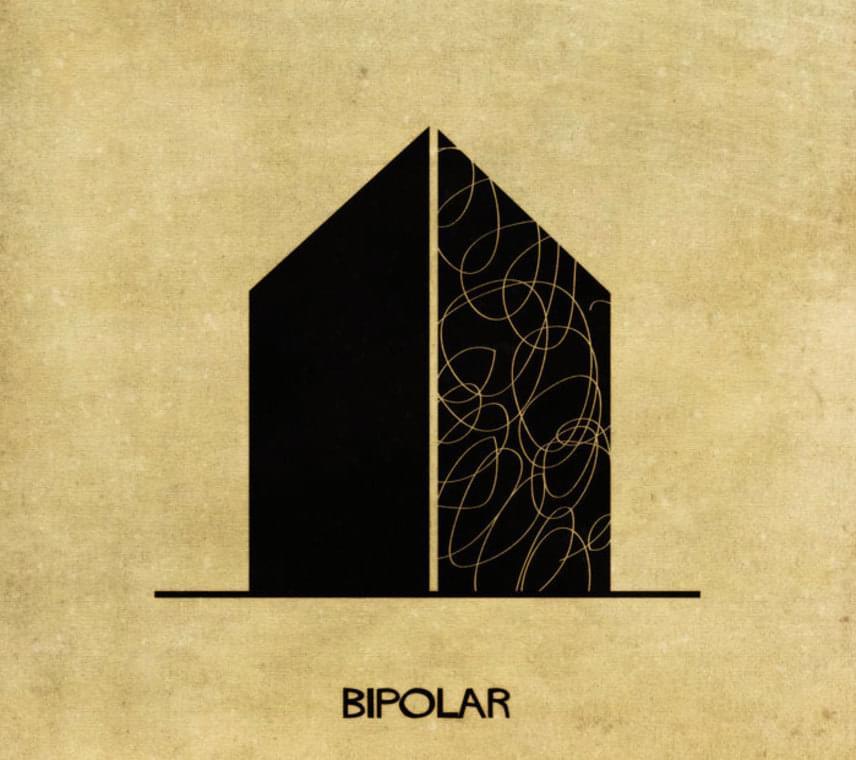 Végül a bipoláris zavar, vagyis a pozitív és negatív érzelmek közti kiszámíthatatlan hullámvasút.