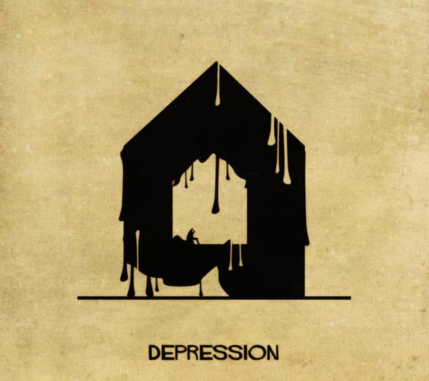 Így ábrázolta Federico Babina a sötét gondolatokkal terhelt depressziót.