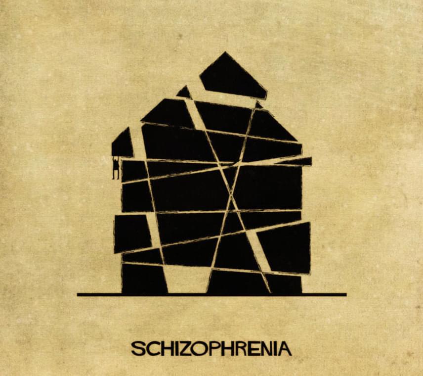 Így nézne ki a skizofrénia, azaz a tudathasadásos elmezavar a sorozat készítője szeirnt.