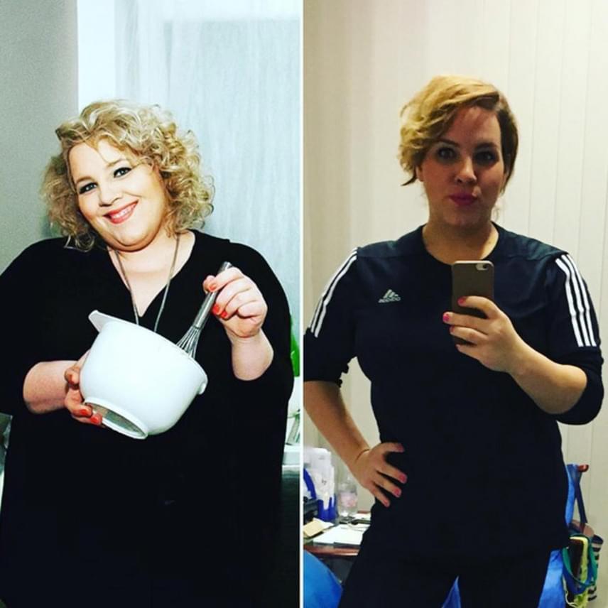 Tóth Vera 2016 márciusában és tavaly november végén - az énekesnő szinte a felére fogyott.