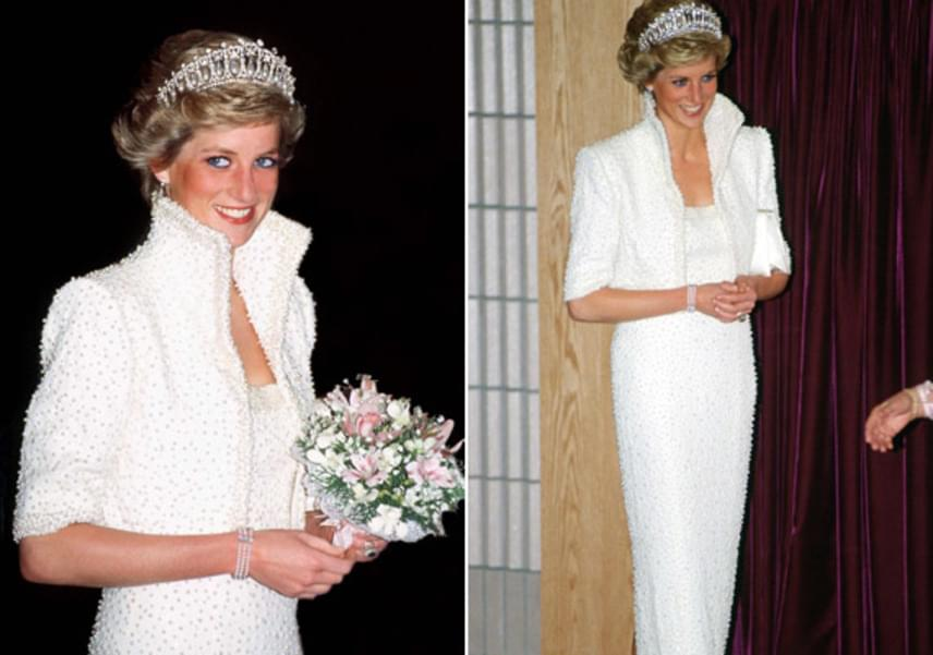 Az Elvis-ruhaként elhíresült darab is kiállításra kerül. A Catherine Walker tervezte ruha az egyik legismertebb a Diana által viselt szettek közül.