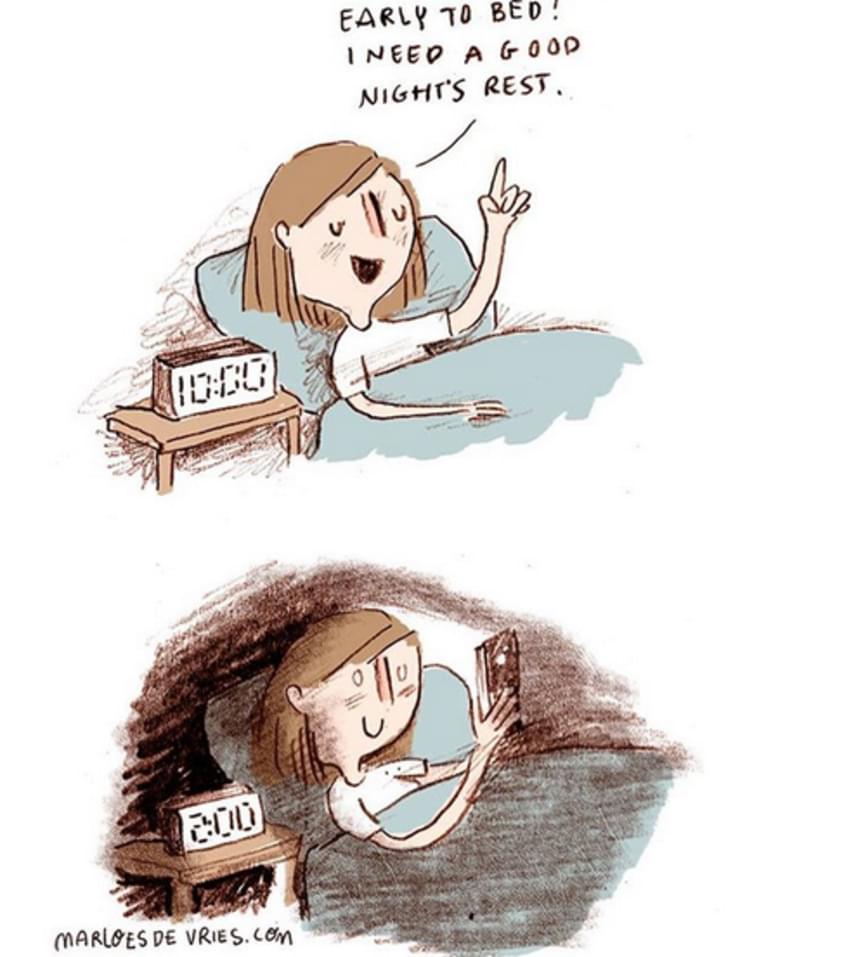 """""""Még jó, hogy korán ágyba kerültem, mert szükségem van a pihenésre!"""""""