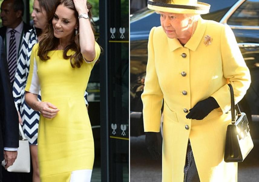 Vilmos herceg csak banánruhának csúfolt felesége dögös sárga szettjét, pedig ez még a királynőt is megihlette.