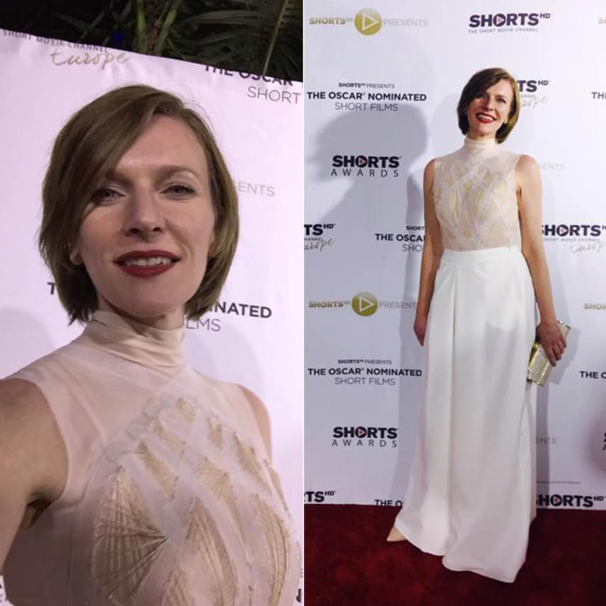 Szamosi Zsófia szombaton is lenyűgöző volt, akkor az Elysian egy fehér darabját viselte a vörös szőnyegen.