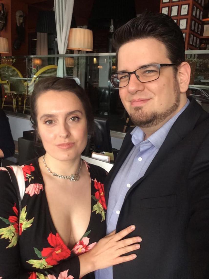 Deák Kristóf és felesége Los Angelesben, az Oscar előtt pár nappal.