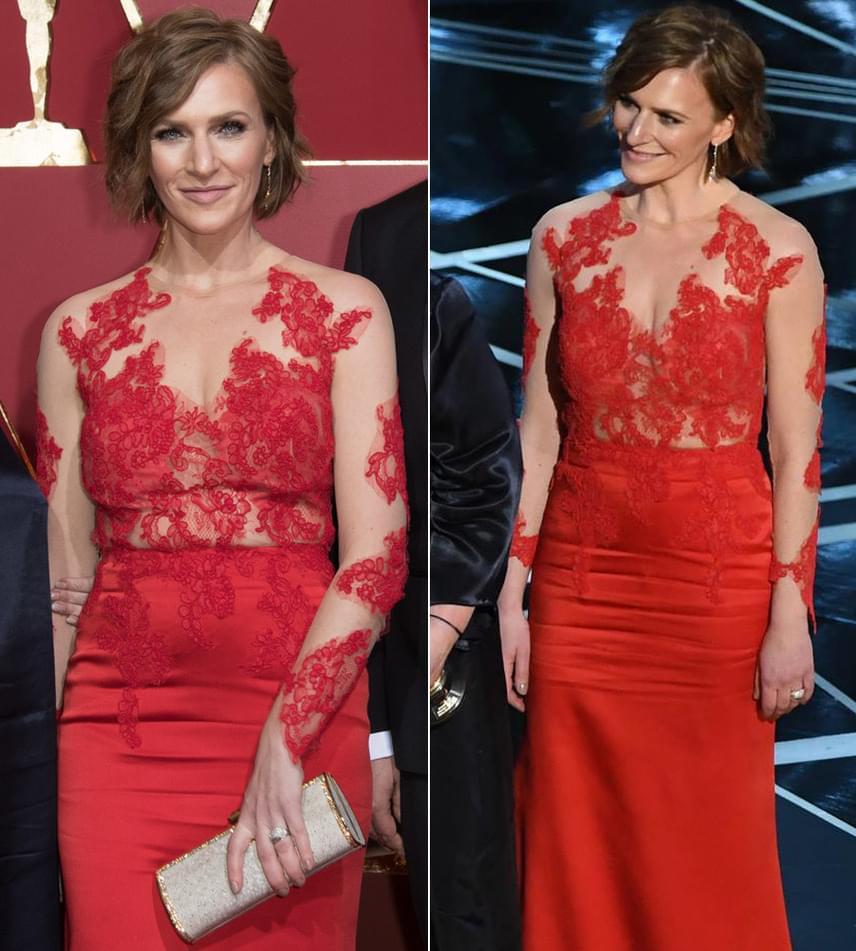 Szamosi Zsófia, Deák Kristóf díjnyertes Mindenki című kisfilmjének felnőtt főszereplője a 89. Oscar-gála egyik legszebb ruháját viselte.