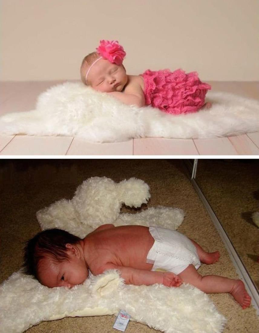 Ez a báránybőrös elképzelés nem váltotta be a hozzá fűzött reményeket, még ha nagyon aranyos is a lefektetett baba.