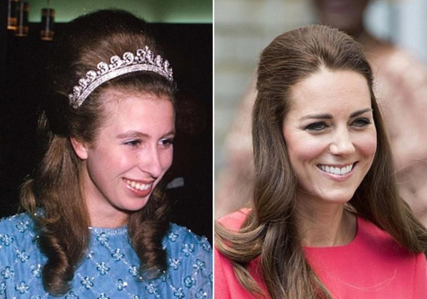1970-ben Ausztráliában kapták le a királyi hercegnőt ezzel a puffos hajstílussal - Katalin hercegné is viselt már hasonlót, bár kevesebb tupírral.