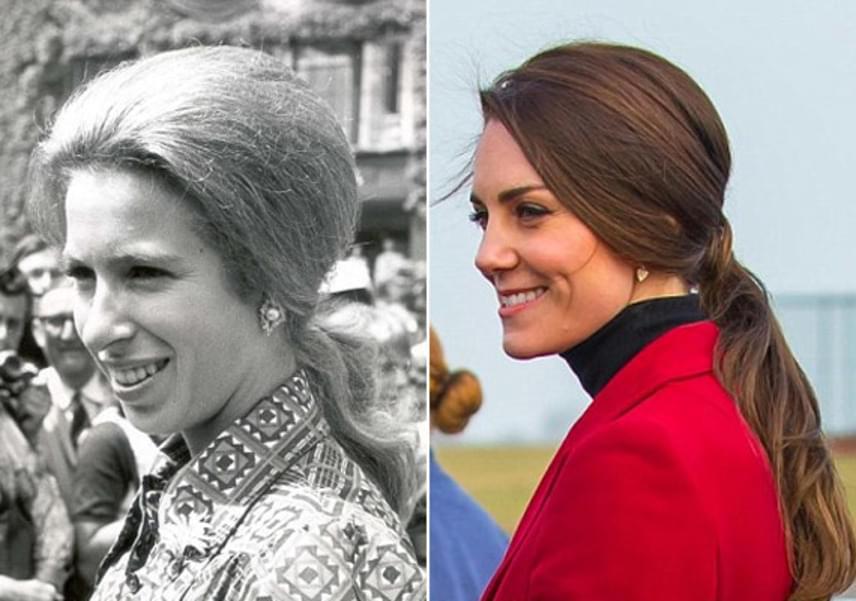 Két lófarokba fogott frizura: az egyik 1973-ból, a másik pedig 2013-ból. Hátrafésült haj, lágy hullámok - a hasonlóságot nem lehet nem észrevenni.