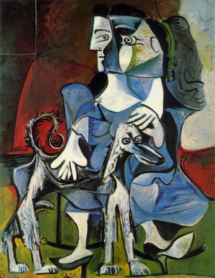 Picasso, a kutya nem véletlenül kapta ezt a nevet, hiszen aszimmetrikus feje pontosan úgy néz ki, mintha csak Picasso valamelyik festményéről lépett volna le.