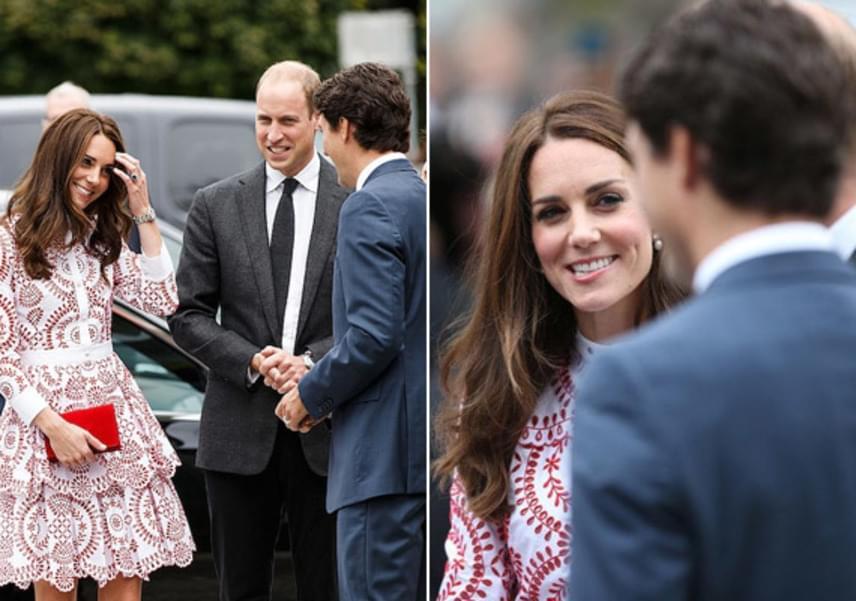 Mint egy iskoláslány! Katalin hercegné úgy dobálta a haját és kuncogott kanadai útjuk során Trudeau láttán, akár egy kiskamasz fruska, akihez először szólt a fiú, akit kiszemelt.