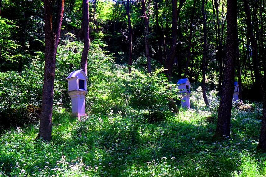 A falu határából indul az erdőbe vezető Kálvária, mely felvisz egészen a Borostyán-kőhöz. Húsvétkor valahogy egy kicsit más érzés végigjárni a Krisztus keresztre feszítésének történetét feldolgozó kis kápolnákat.