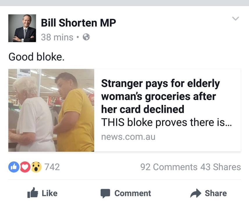 Az esetről íródott egyik cikket még egy ausztrál parlamenti képviselő, Bill Shorten is megosztotta saját Twitter-oldalán.