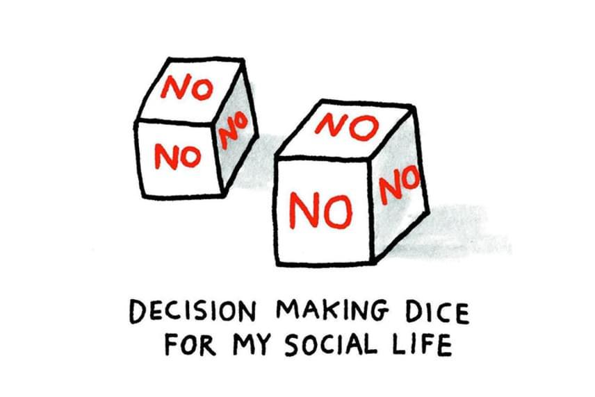 Nem. Nem. Nem. Nem. Nem. Nem. Dobókockák a társasági életemhez kapcsolódó döntésekhez.