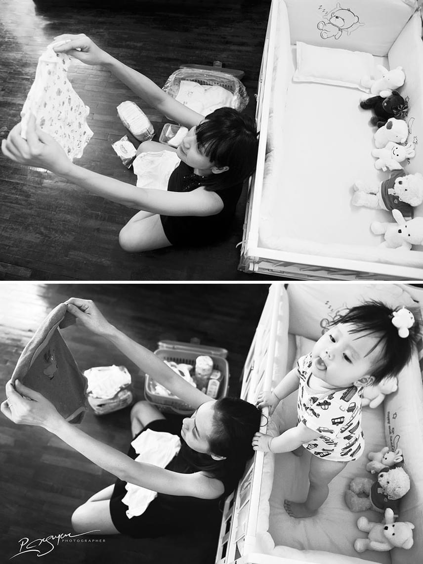 Fantasztikus, amikor amiről eddig csak álmodozott, végre valóságként van jelen az anyuka életében.