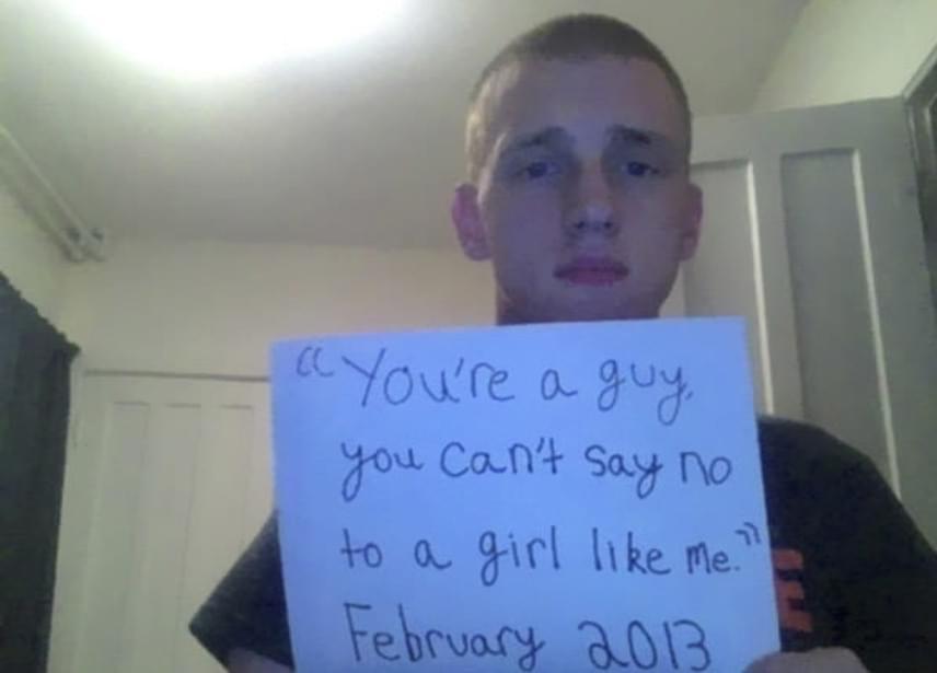 """""""Te csak egy srác vagy, nem mondhatsz nemet egy olyan lánynak, mint én - 2013 februárja."""""""