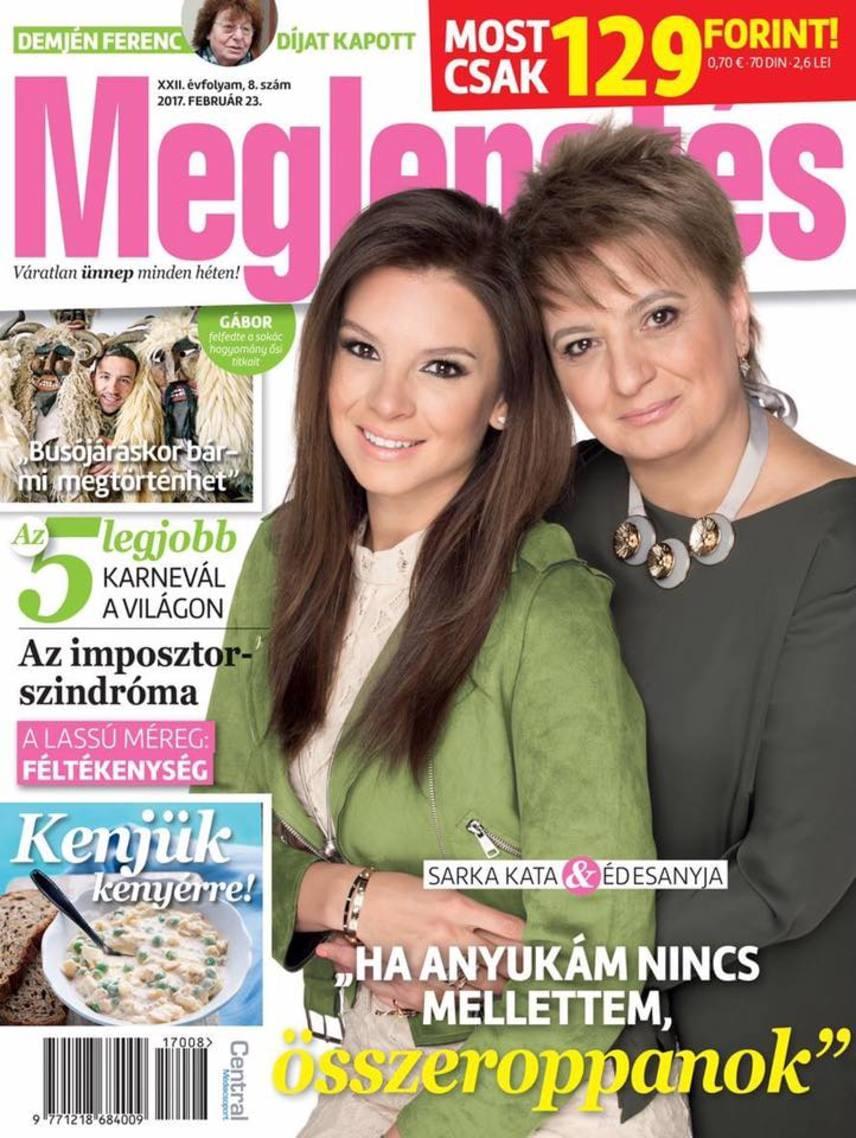 Sarka Kata és az édesanyja, Katalin - mindketten barna típusok, szemük és szájuk formája ugyanolyan.
