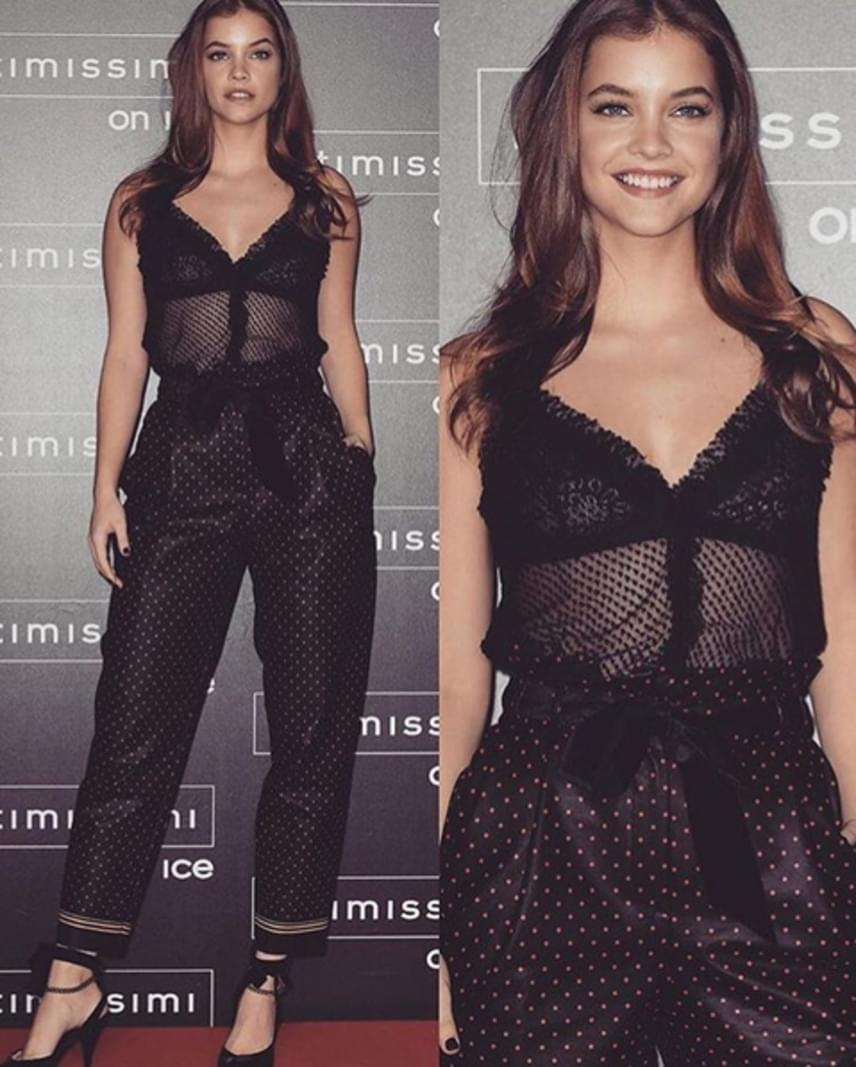 Ezt az átlátszó, csipkés, fekete szettet Palvin Barbi az Intimissimi egyik rendezvényén viselte - nem csoda, hogy mindenki őt nézte.
