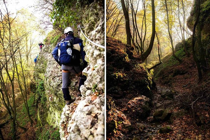 A Cseszneknél futó Via Ferrata három külön részből áll: az Ostromlók útja, a Tálos Zoltán emlékút és a Várpanoráma út során lenn a lenyűgöző szépségű völgyet, fenn pedig a gótikus várromot láthatod.