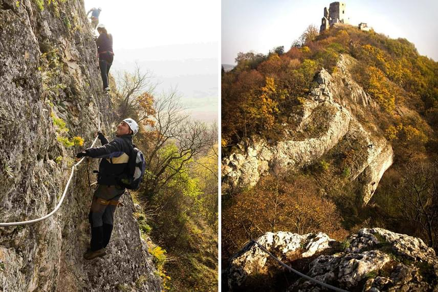Magyarországon elsőként a cseszneki vár alatt épültek ki vasalt utak, melyek a Kőmosó-szurdok meredek szikláin biztosítanak kalandos közlekedési lehetőséget.