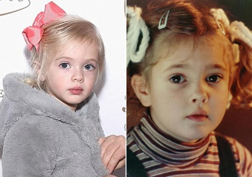 A négyéves Olive szinte pontosan úgy néz ki, mint édesanyja annak idején az E.T.: A földönkívüli című film forgatásakor.