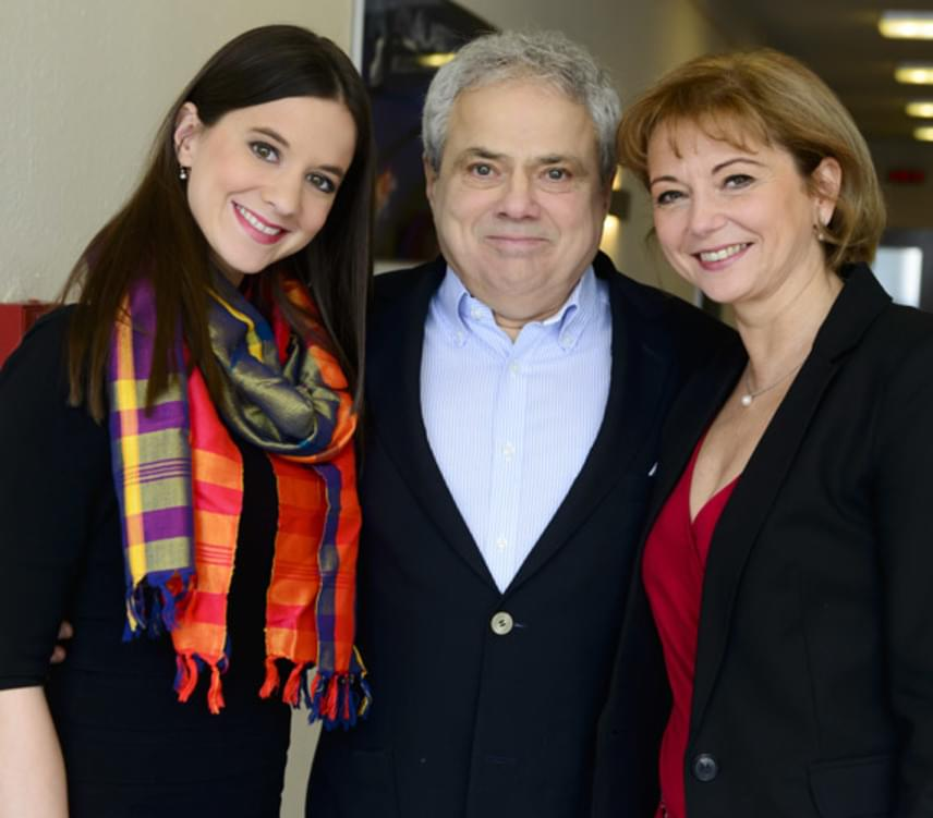 Rózsa György párjával, Mráz Nellivel és lányával, aki saját bevallása szerint nagyon megszerette édesapja új kedvesét.