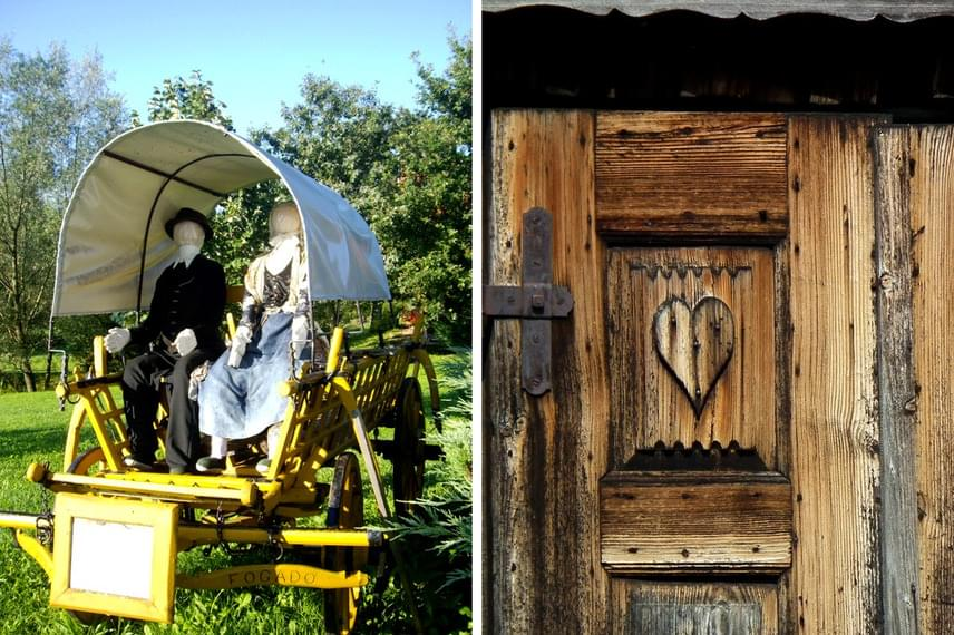 A skanzenben számos 19. századi tárgyat láthatsz eredeti állapotában kiállítva, melyek javát az egykori tulajdonosoktól szerezték be. Az egyes épületeket nagy gonddal, funkciójuk szerint rendezték be, így hiteles képet adnak az akkori falusi életmódról.