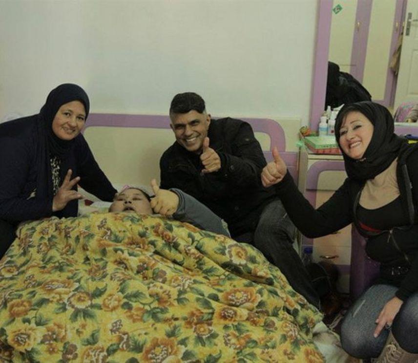 Családja így örült a sikeres operációnak, amely megmentette Eman Ahmed életét.