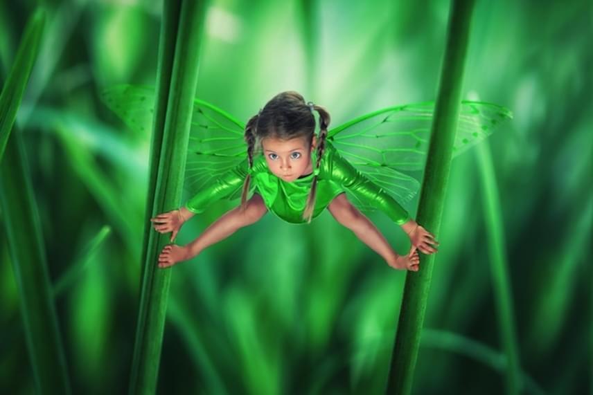 John Wilhelm kislánya akár egy Disney-mese főhőse is lehetne, akit ezúttal zöld pillangóvá változtatott.