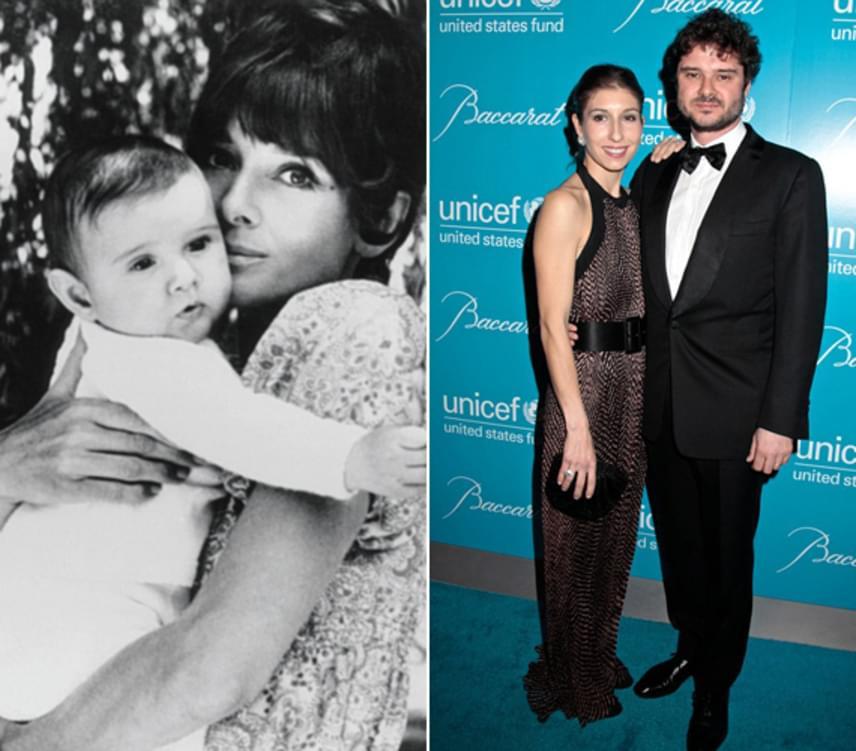 A bal oldali kép nem sokkal Luca születése után készült. A jobb oldali felvételen Luca gyönyörű felesége, Domitilla oldalán látható.