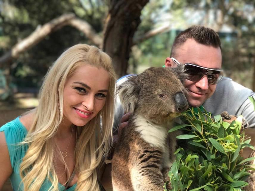Az énekes és szerelme Ausztráliában élvezik a napsütést és a 30 fokot.