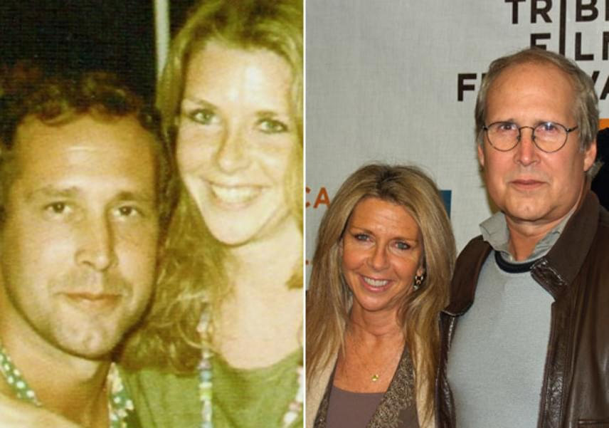 Chevy és Jayni Chase 1982 óta élnek boldog házasságban. Jayni produkciós asszisztens volt A szivárvány alatt című film forgatásán - itt szerettek egymásba.