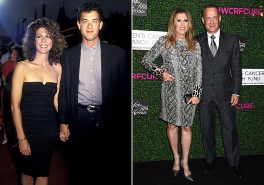 1988-ban mondta ki a boldogító igent Tom Hanks és Rita Wilson, és azóta is imádják egymást. A pár 1984-ben ismerkedett meg a Bosom Buddies sorozat forgatásán, és azóta elválaszthatatlanok.