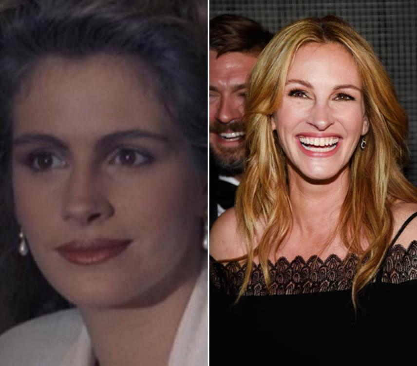 Julia Roberts 20 éves volt, amikor szerepet kapott a Miami Vice című sorozat egyik epizódjában, amit 1988-ban mutattak be. A 49 éves színésznő is jócskán megváltozott azóta, igaz, ő legalább nem botoxoltatott.