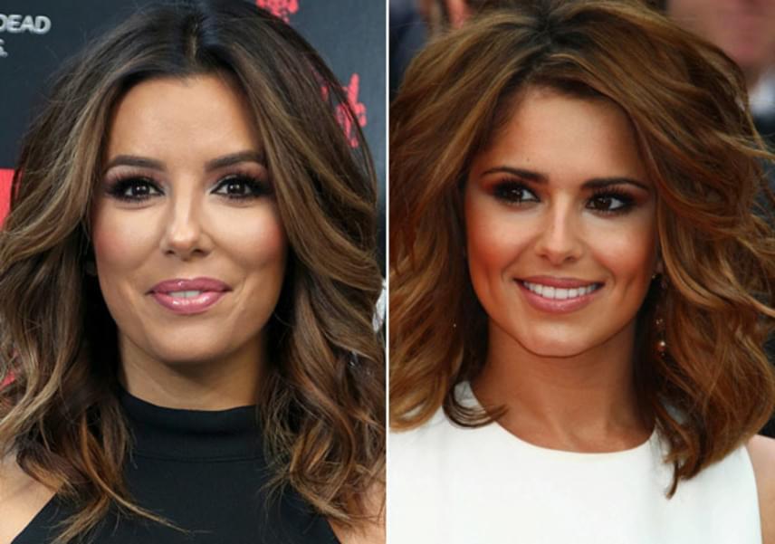 A Született feleségek egykori sztárja, Eva Longoria és Cheryl is nagyon hasonlítanak egymásra - a képet elnézve talán még a fodrászuk is közös.