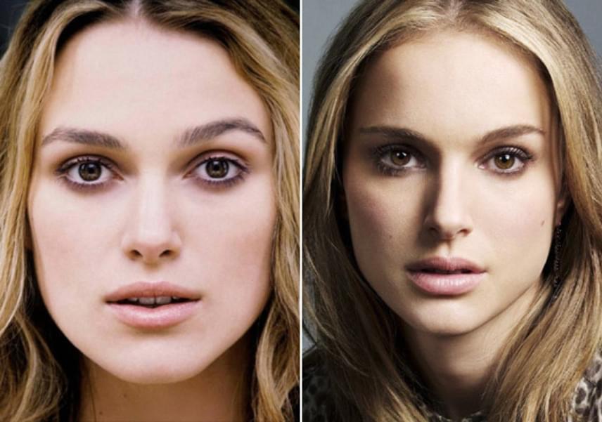 Nem csoda, hogy Keira Knightlyt és Natalie Portmant sokan összetévesztik - az arcuk szinte teljesen egyforma.