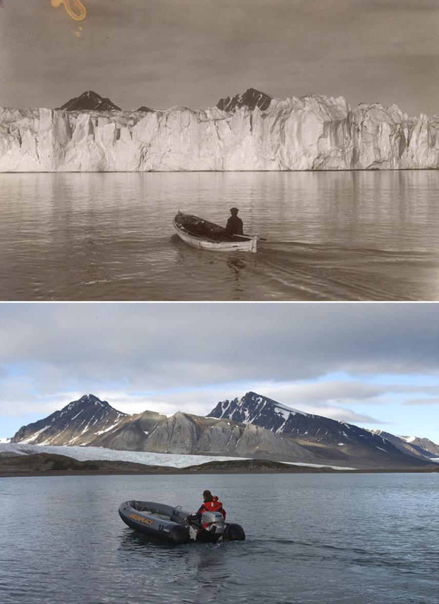 A svéd fotós igyekezett újrakomponálni az eredeti fotók szituációit, hogy még látványosabb legyen az összehasonlítás.