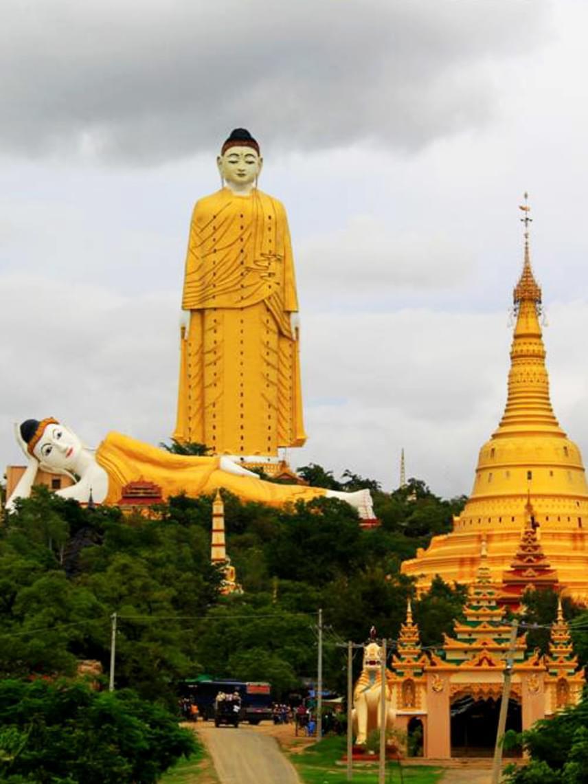 A Mianmarban található Laykyun Setkya Buddha szobor csak egy kicsivel marad el kínai párjától magasságban, hiszen a város fölé tornyosuló, aranyszínű csoda maga is 116 méter. A látogatókat a szobor belsejében egy lift viszi fel és le, így a turisták lenyűgöző panorámában gyönyörködhetnek. A Laykyun Setkya mellett egy másik, 89 méteres Buddha szobor is fekszik.