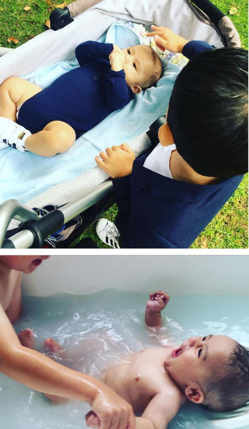 Az anyuka gyakran oszt meg képeket a fiairól, akiknek már most csodálatos a kapcsolata. A vigasztalást megörökítő fotó pedig olyannyira megérintette az embereket, hogy internetes gyűjtést indítottak a beteg baba orvosi kezelésére.