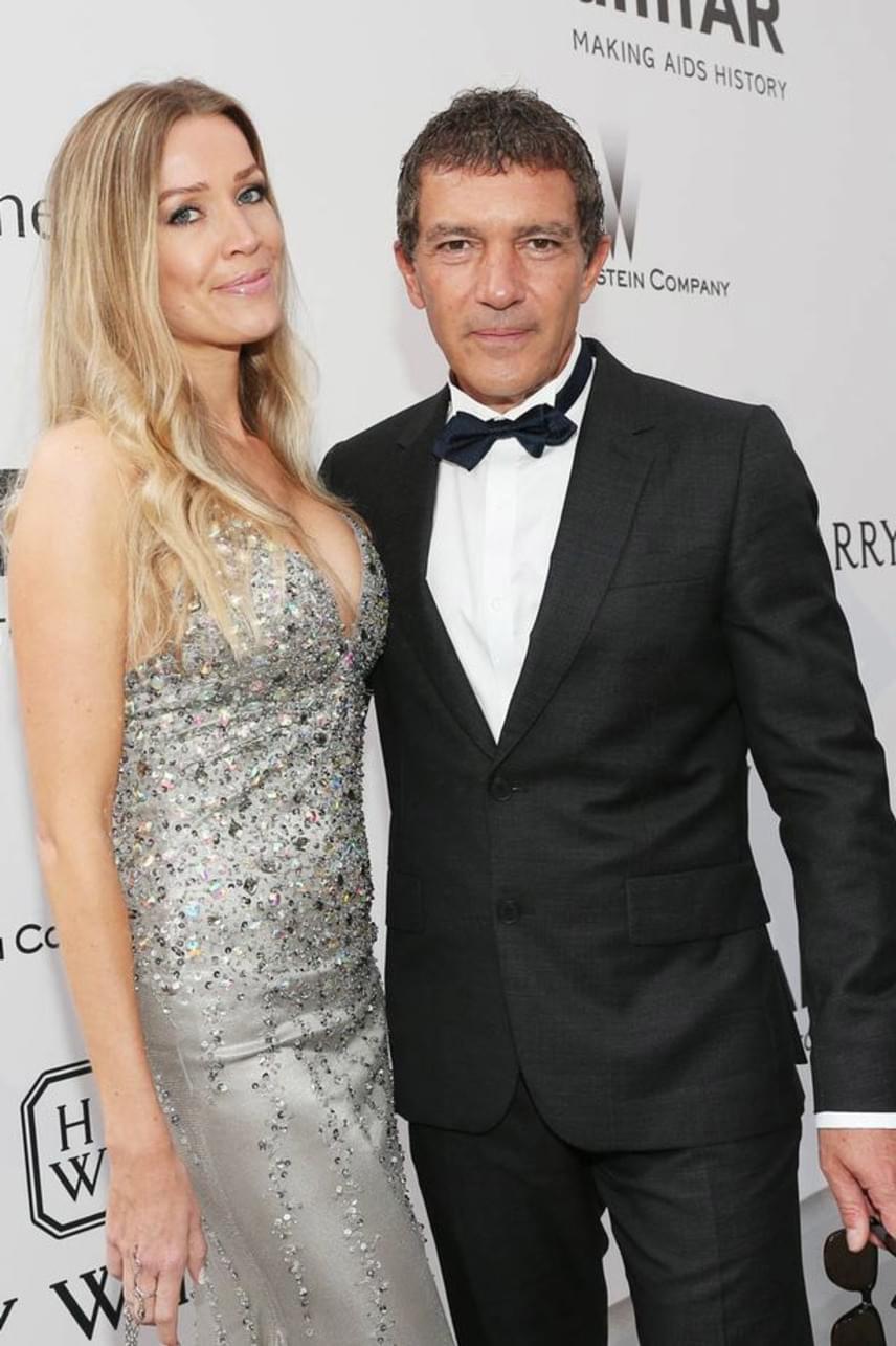 Antonio Banderas a díjátadókra is gyakorta magával viszi a kedvesét - imád büszkélkedni a gyönyörű Nicole-lal.